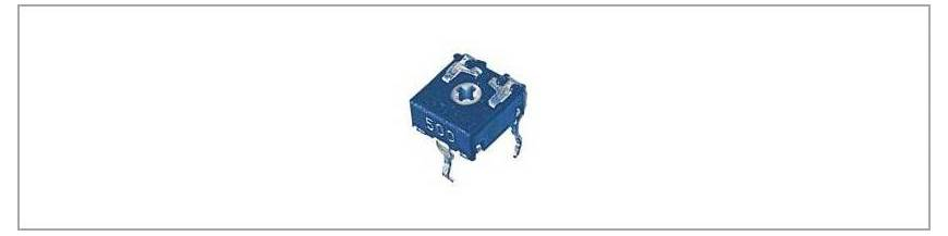 Semireglabili 6.5x6.5 mm CA6 RM5/5 mm - orizontali