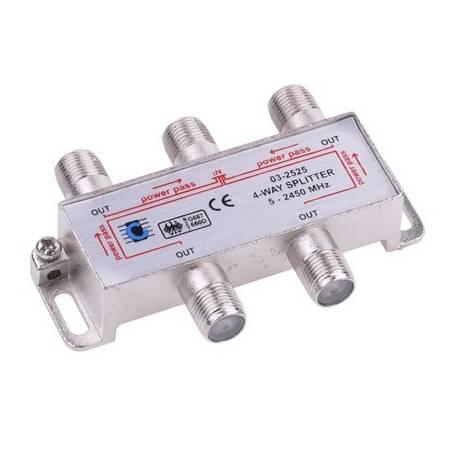 SPLITER 4 CAI TV SAT 5-2400 MHz