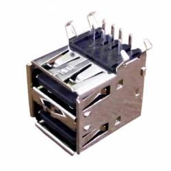 CONECTOR USB 2xA 90 GRD