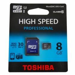 CARD MICRO SD 8GB + ADAPTOR CLASA 10