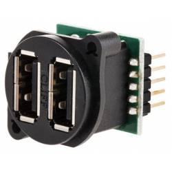 CONECTOR USB A DUBLU PANOU