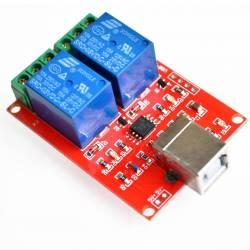 MODUL RELEU 5V CU 2 CANALE 10A USB