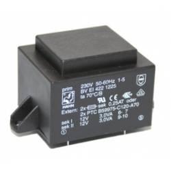 TRANSFORMATOR 6 VA/2x12 V 2x250 mA