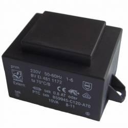 TRANSFORMATOR 10 VA/2x15 V 2x333 mA