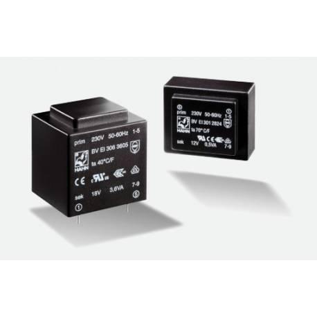 TRANSFORMATOR 1.5 VA/2x 6 V 2x125 mA