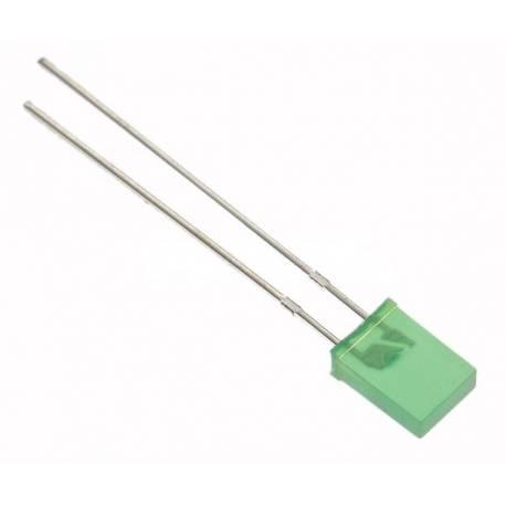 LED 2x5 mm VERDE - DREPTUNGHIULAR