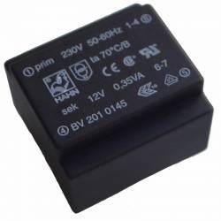 TRANSFORMATOR 0.35 VA/2x12 V 2x15 mA