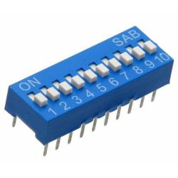 DIP SWITCH 10 CT
