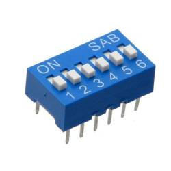 DIP SWITCH 6 CT