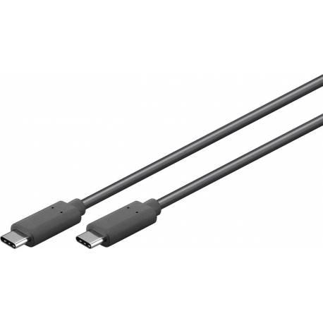 CABLU USB 3.1C GEN.1 2m CUPRU NEGRU
