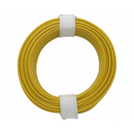 SOLID CORE WIRE 0.5/10M YELLOW