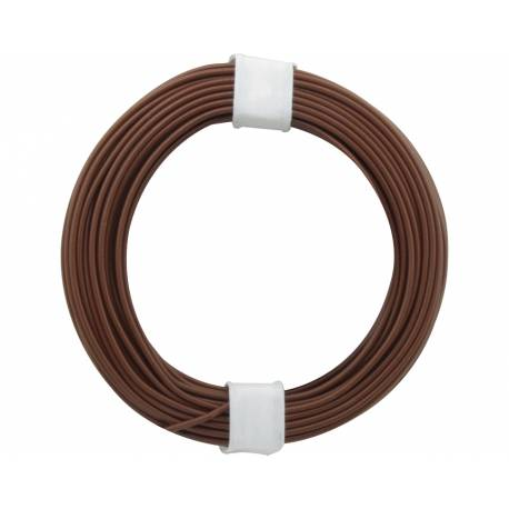 SOLID CORE WIRE 0.5/10M BROWN