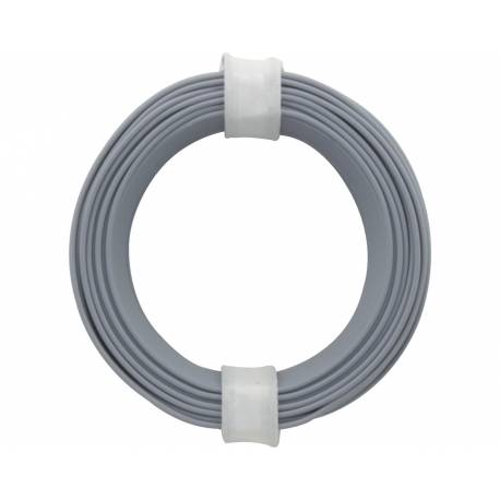 SOLID CORE WIRE 0.5/10M GREY