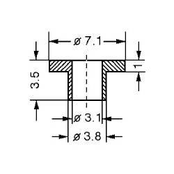 BUCSA IZOLATOARE TO3 7.1 mm