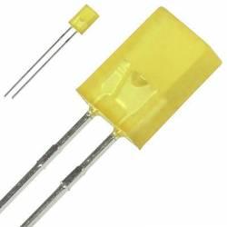 LED 2x5 mm GALBEN - DREPTUNGHIULAR